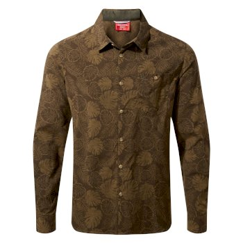 NosiLife Lester Long Sleeved Shirt - Woodland Green Print