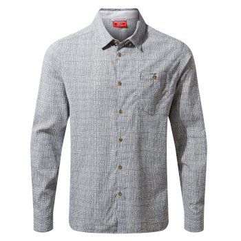 NosiLife Lester Long Sleeved Shirt - Cloud Grey Print