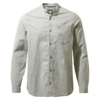 NosiBotanical Hartford Long Sleeved Shirt - Sage Marl