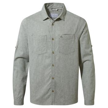 NosiBotanical Villar Long Sleeved Shirt - Sage Marl