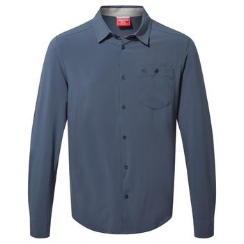 NosiLife Hedley Long Sleeved Shirt - Steel Blue