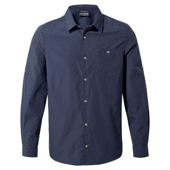 Men's Kiwi Ridge Long Sleeved Shirt - Steel Blue