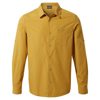 Men's Kiwi Ridge Long Sleeved Shirt - Dark Butterscotch