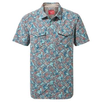 NosiLife Calhoun Short Sleeved Shirt  - Aqua Print