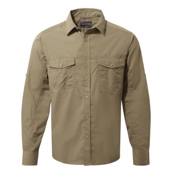 Men's Kiwi Long Sleeved Shirt - Pebble