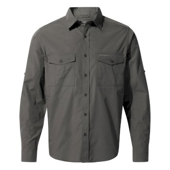 Men's Kiwi Long Sleeved Shirt - Dark Grey