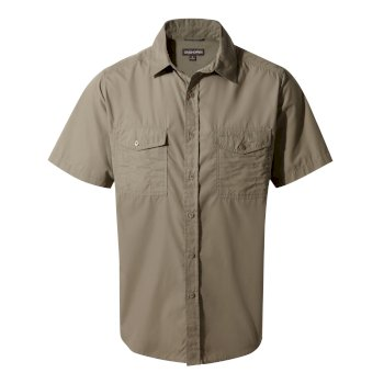 Men's Kiwi Short Sleeved Shirt - Pebble