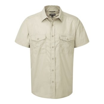 Men's Kiwi Short Sleeved Shirt - Oatmeal