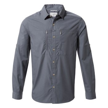 Men's Kiwi Boulder Long Sleeved Shirt - Ombre Blue