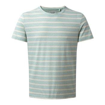 Bernard T-Shirt - Lightt Bondi Blue Stripe