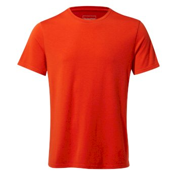 First Layer Short-Sleeved T-Shirt - Aster Red