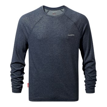 NosiLife Bayame Long-Sleeve T-Shirt - Soft Navy Marl