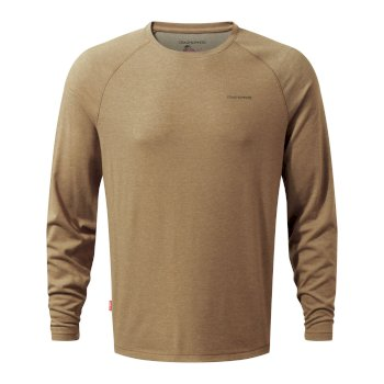 Insect Shield Bayame Long sleeved Top - Kangaroo
