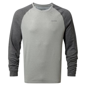 Men's Insect Shield® Bayame Long Sleeved Top - Black Pepper Marl / Soft Grey Marl