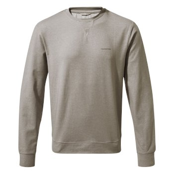 NosiLife Tilpa Crew Sweat - Soft Grey Marl