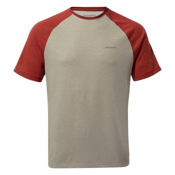 NosiLife Anello T-Shirt Soft Grey Marl / Firth Red