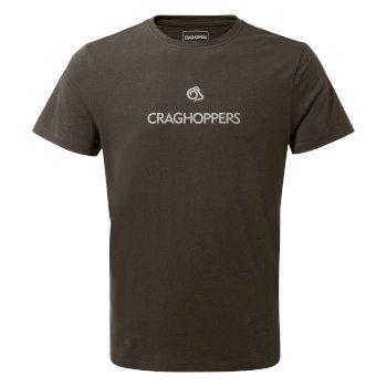 Calvino Linear Mountain T-Shirt - Black Pepper