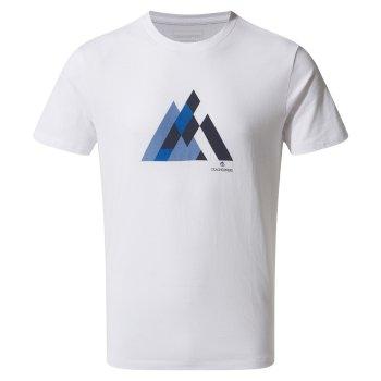 5e8f2e97a Calvino Short-Sleeved Geometric Mountain T-Shirt - Optic White