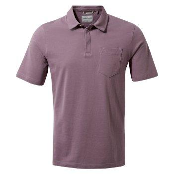Meran Short-Sleeved Polo - Mulberry