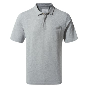 Meran Short-Sleeved Polo - Soft Grey Marl