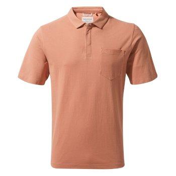 Meran Short-Sleeved Polo - Red Ochre