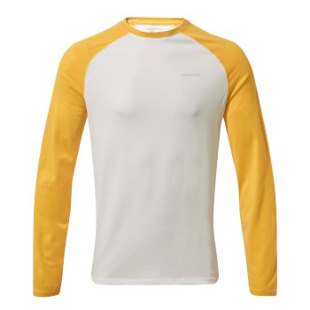 NosiLife Bayame II Shirt Indian Yellow / Optic White