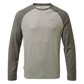 Men's Insect Shield® Bayame II Long-Sleeved T-Shirt - Black Pepper Marl / Soft Grey Marl