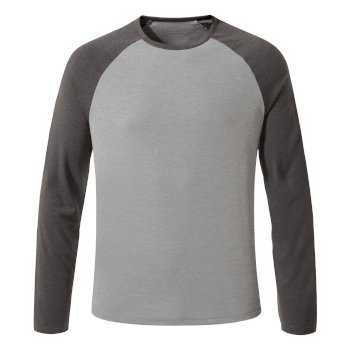 First Layer Long-Sleeved Tee - Quarry Grey Marl / Black Pepper Marl