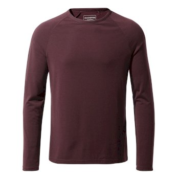 First Layer Long-Sleeve T-Shirt - Dark Wine