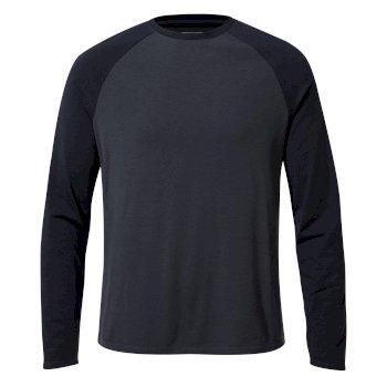 First Layer Long-Sleeved T-Shirt - Steel Blue / Blue Navy