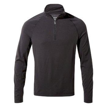 First Layer Half-Zip T-Shirt - Black Pepper