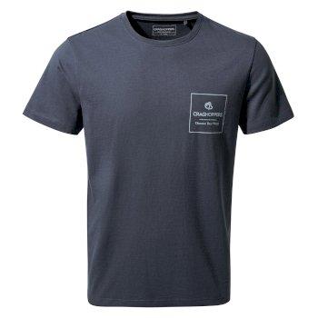 Nelson Short Sleeved T-Shirt - Steel Blue Pocket Brand Carier