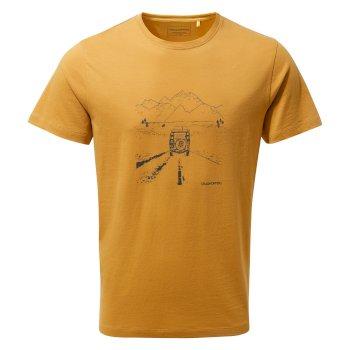 Nelson Short Sleeved T-Shirt - Golden Yellow Truck