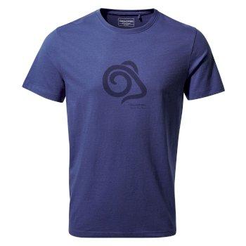 Nelson Short Sleeved T-Shirt - Lapis Blue Mouflon