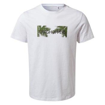 Nelson Short Sleeved T-Shirt - Optic White Palm Brand Carrier