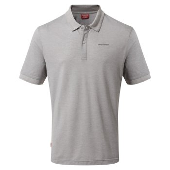 NosiLife Mani Short Sleeved Polo - Soft Grey Marl