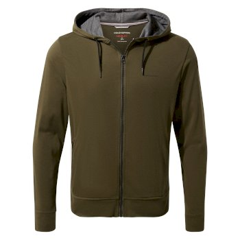 Men's Insect Shield® Tilpa Hooded Jacket - Dark Moss / Black Pepper Marl