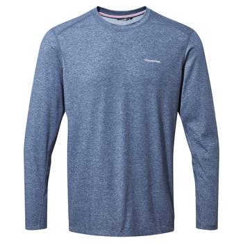 NosiLife Talen Long Sleeved T-Shirt - Soft Navy Marl