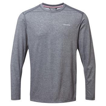 NosiLife Talen Long Sleeved T-Shirt - Black Pepper Marl