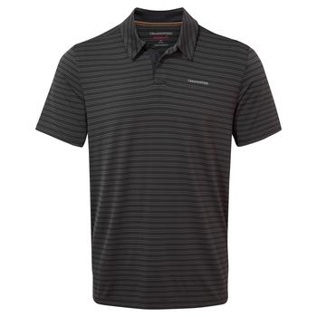 NosiLife Pro Short Sleeved Polo - Black Pepper Stripe