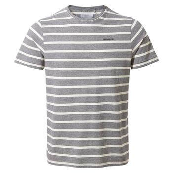 NosiBotanical Sten Short Sleeved T-Shirt - Blue Navy Stripe
