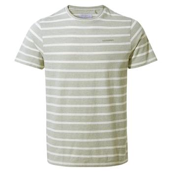 NosiBotanical Sten Short Sleeved T-Shirt - Sage Stripe