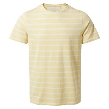 NosiBotanical Sten Short Sleeved T-Shirt - Papyrus Stripe