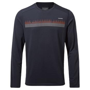 Dynamic Long Sleeved T-Shirt - Blue Navy