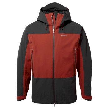 Gryffin Jacket - Black Pepper / Sequoia Red