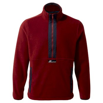 Unisex Ashfield Half-Zip Fleece - Firth Red