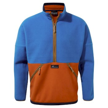 Whitlaw Half Zip - Avalanche Blue / Potters Clay