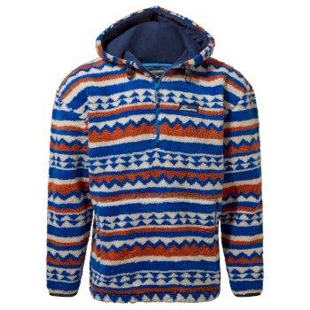 Tyrell Hooded Half Zip - Avalanche Blue Print