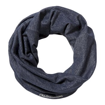 Unisex Insect Shield® Tube Scarf - Soft Navy Marl