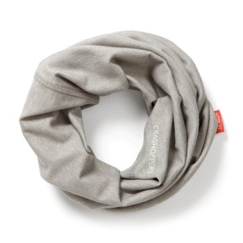 Unisex Insect Shield® Tube Scarf - Soft Grey Marl